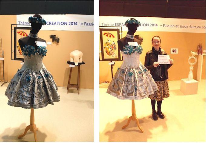 Reine des Roses prize-winning dress