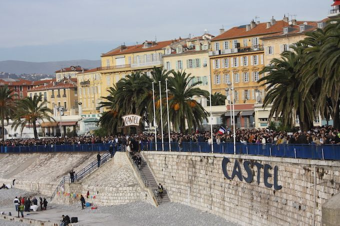 Je Suis Charlie march in Nice, 10th January 2015