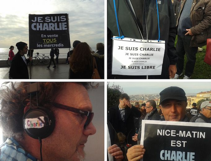Je Suis Charlie march in Nice January 2015