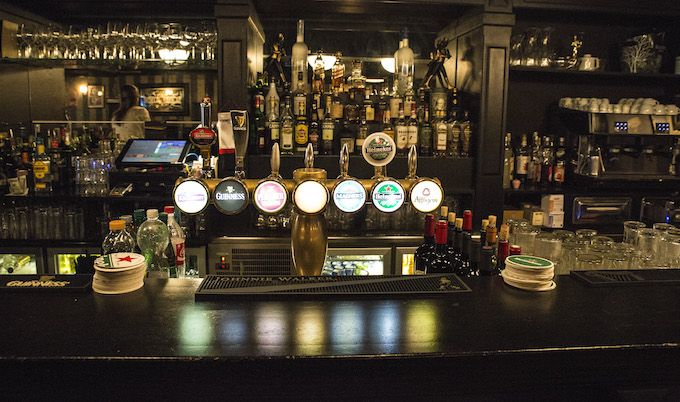 Great selection of beers at McCarthy's Pub in Monaco