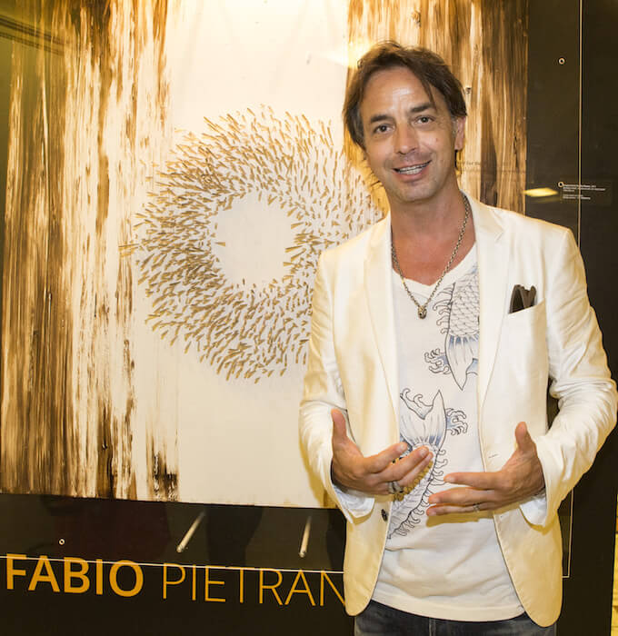 Fabio Pietrantonio at Acupuncture exhibition in Monaco