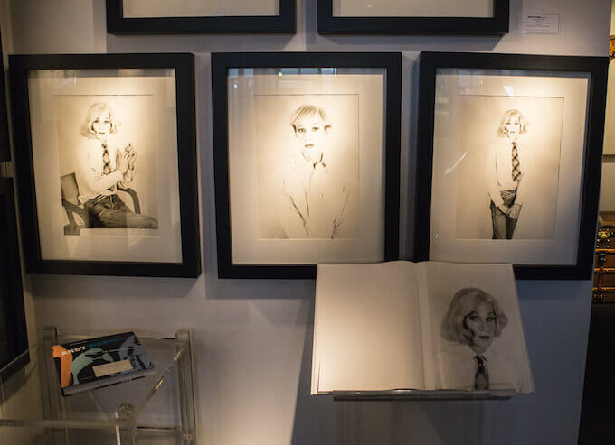 Warhol sketches at Point Art Monaco art fair