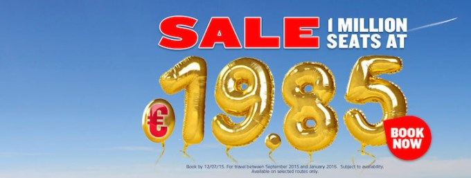 Ryanair 30th birthday seat sale