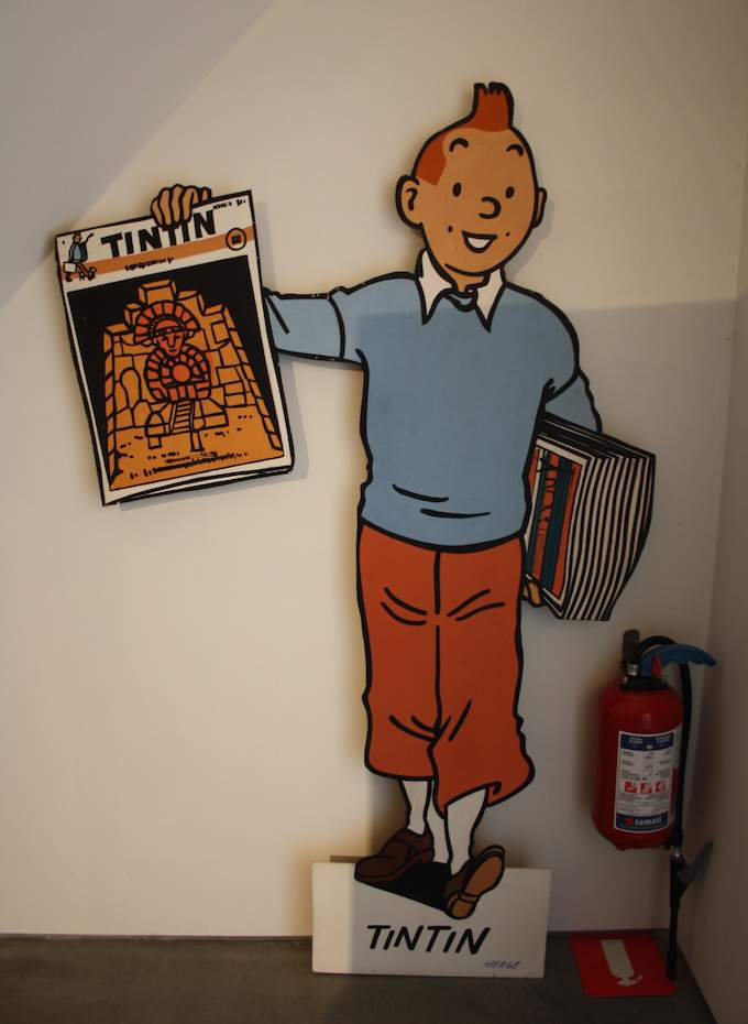 Tintin at home in Brussels