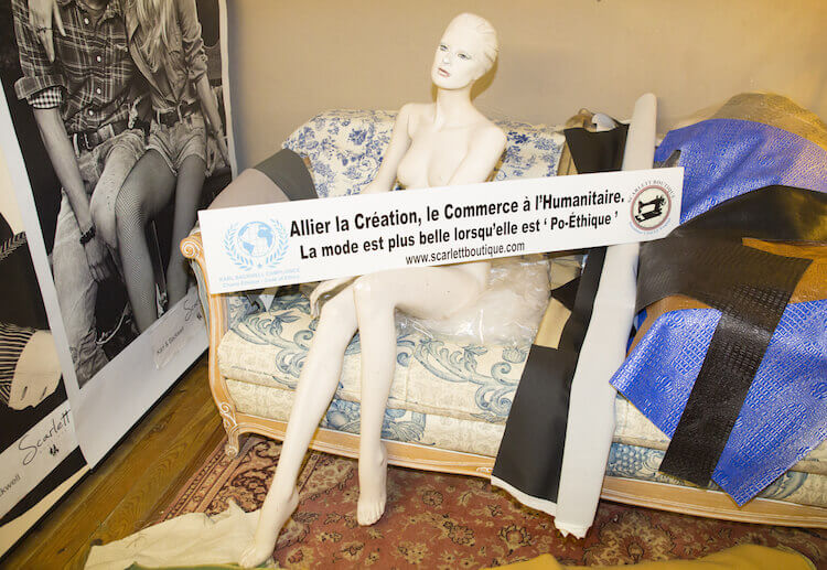 Ethical fashion policy at Scarlett Boutique in Nice
