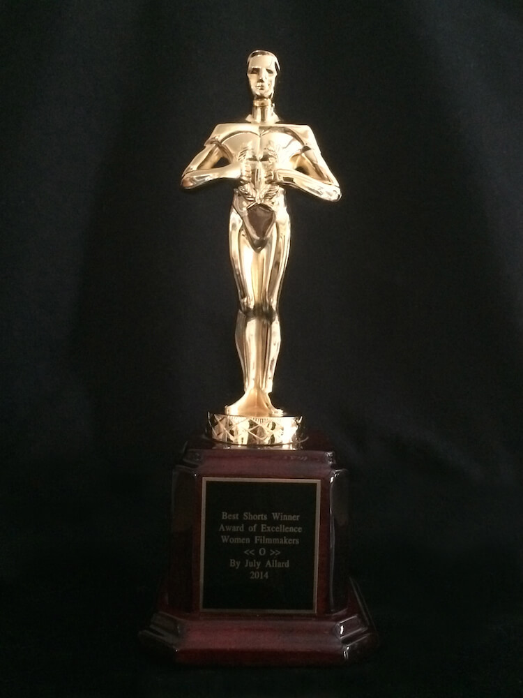 Short movie award for the movie O