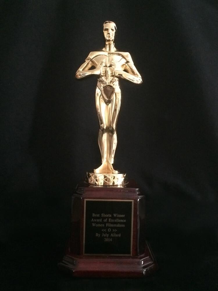 Short movie award for the movie O