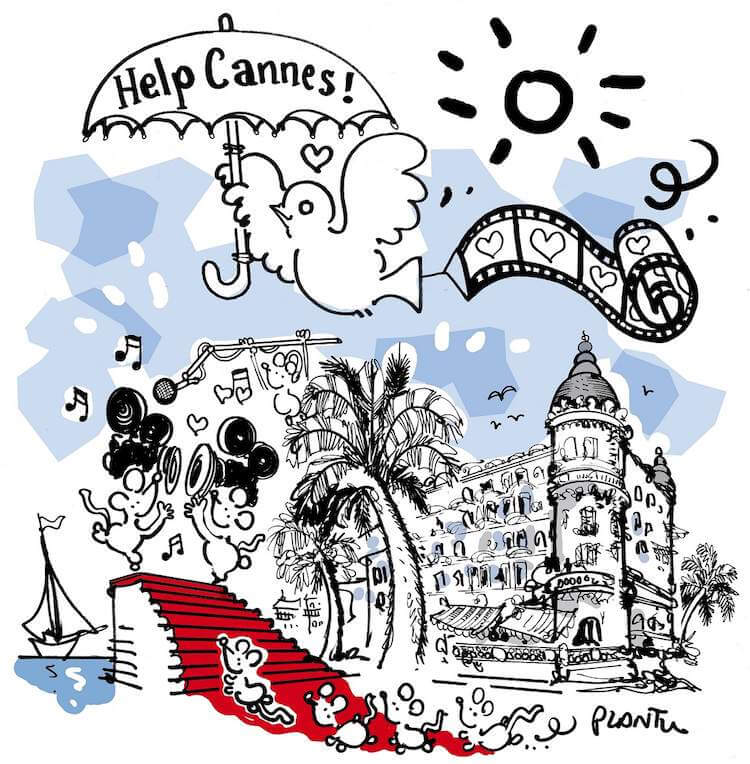 Plantu cartoon Help Cannes up for auction
