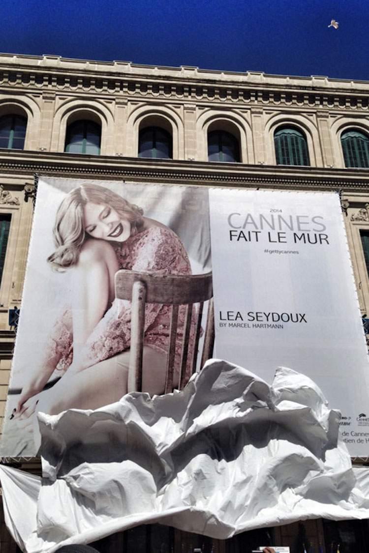 Cannes fait le mur avec Léa Seydoux