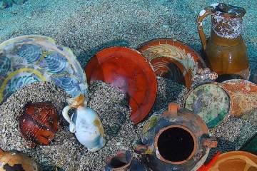 Trésors d'Épaves expo in Menton shipwrecks