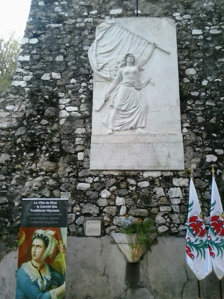 Catarina Segurana plaque in Nice