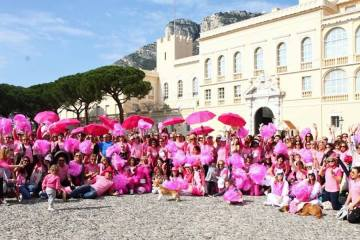 Pink Ribbon Monaco at the Palais Princier Monaco