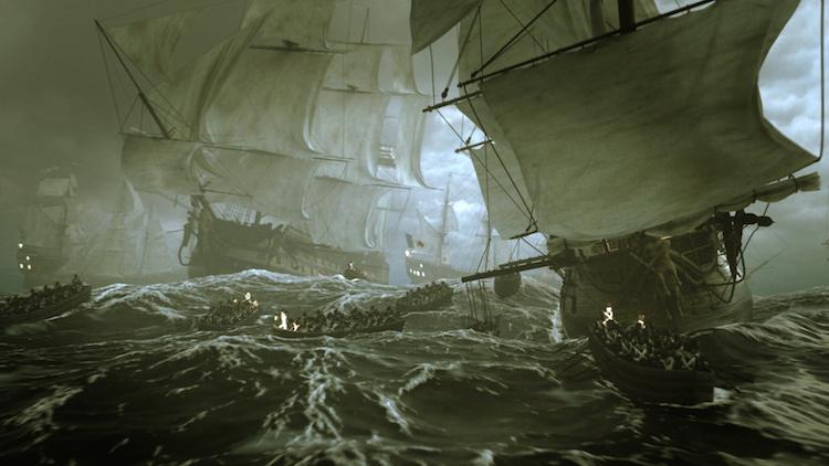 Napoléon sailing to Egypt