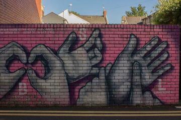 Sign language graffiti Cardiff