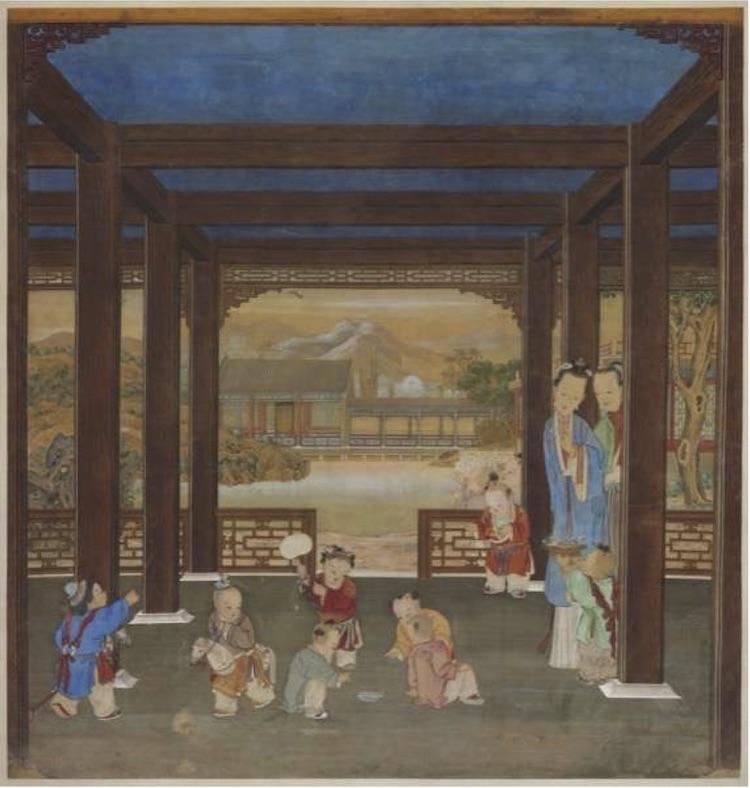 Ladies in the garden Forbidden City