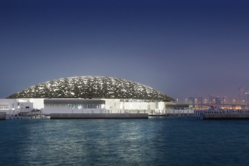 Louvre Abu Dhabi by night