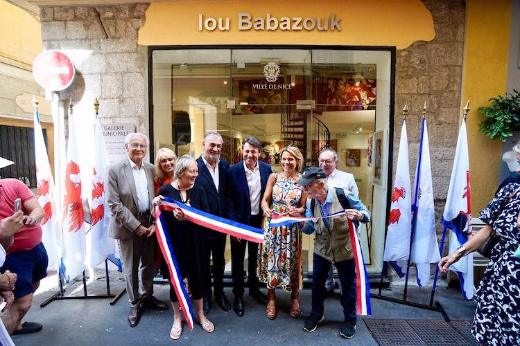 Lou Babazouk ribbon cutting