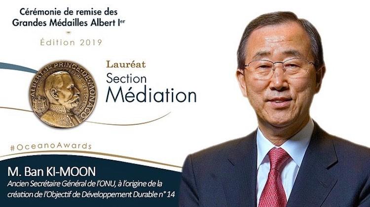 Ban Ki Moon medal recipient