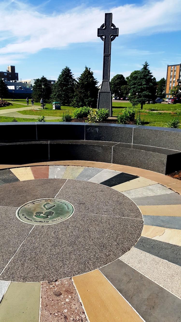 Irish settlers memorial circle PEI
