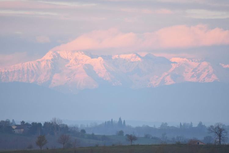 La Garie pyrenees twilight
