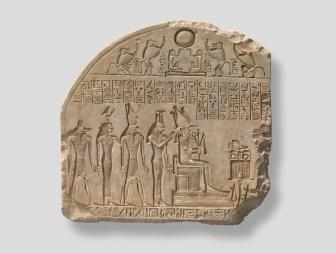 Fragment de stèle à Osiris et aux divinités associées - Musée Granet