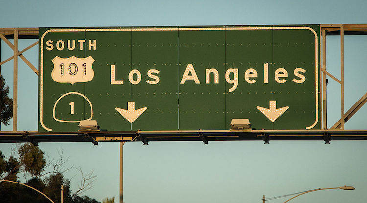 LA Highway sign