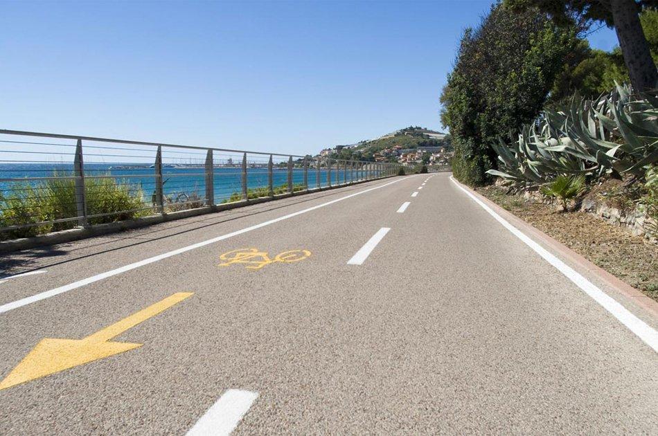 Cicabile di Sanremo tratto vista mare