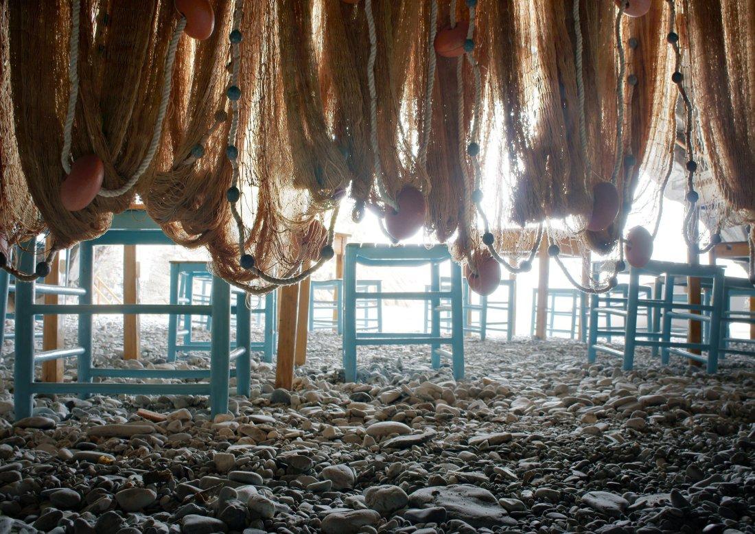 Reti da pesca a San Fruttuoso di Camogli