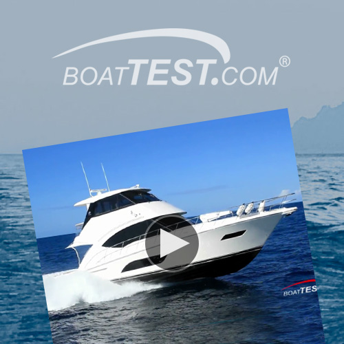 BoatTest.com says the Riviera 57 Enclosed Flybridge