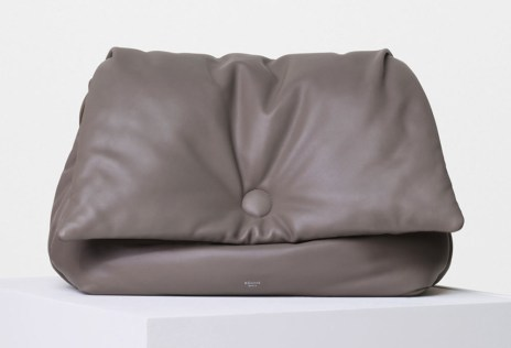 Celine-Medium-Flap-Pillow-Shoulder-Bag-Grey-3400