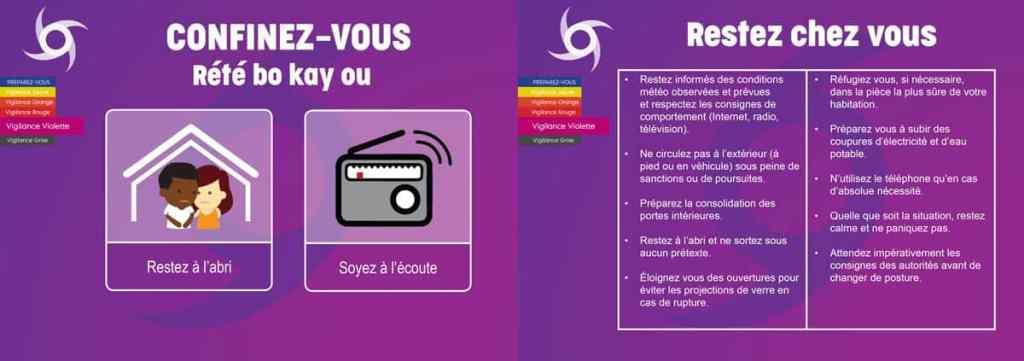 Consignes en cas de vigilance violette cyclone en Martinique