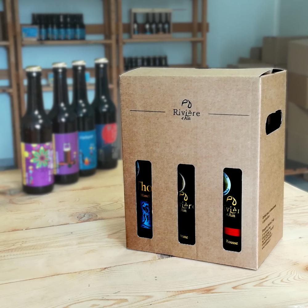 Box 6 x 33 cl de bières Rivière d'Ain