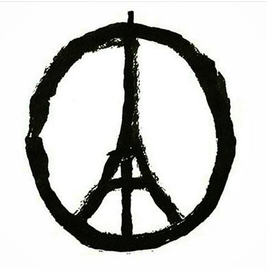 pray for Paris tour Eiffel and Peace