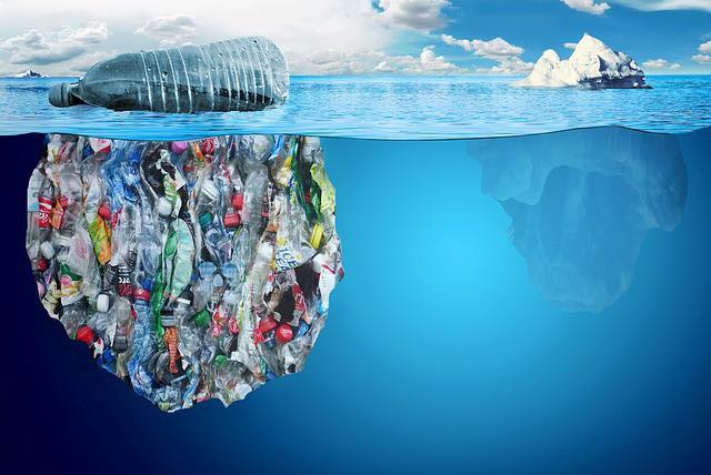 iceberg di plastica