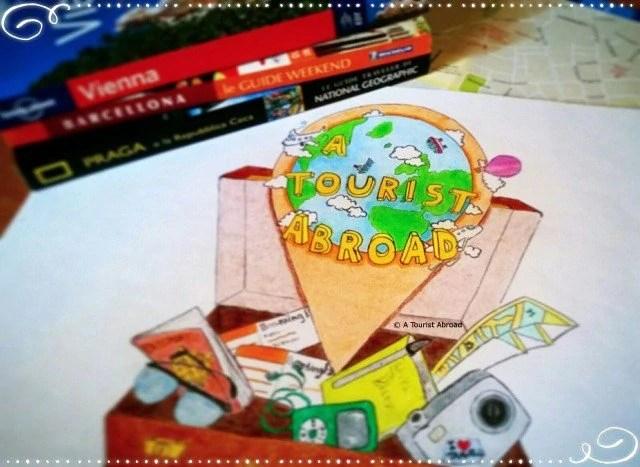 a tourist abroad challenge logo