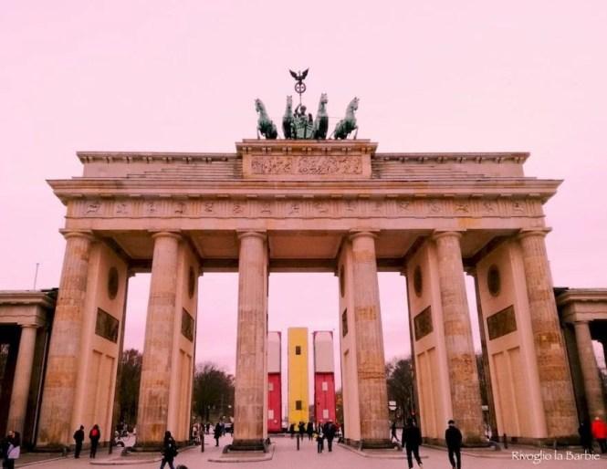 Porta di Brandeburgo Berlino al tramonto