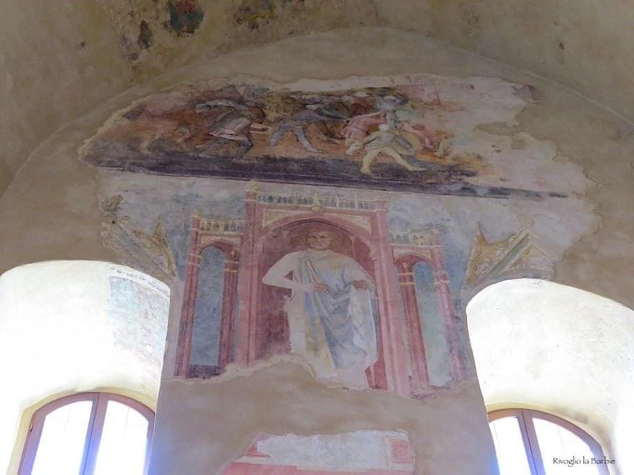 Dettaglio sala dell'imperatore castello di Montefiore Conca