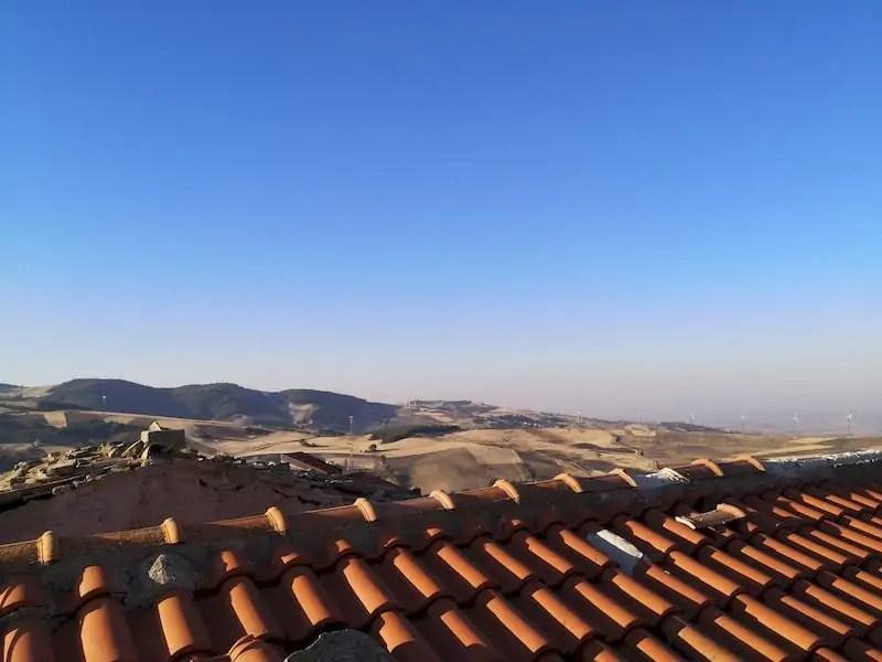 vista dalla torre campanaria motta montecorvino