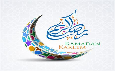 Colorful Ramadan Kareem wishes