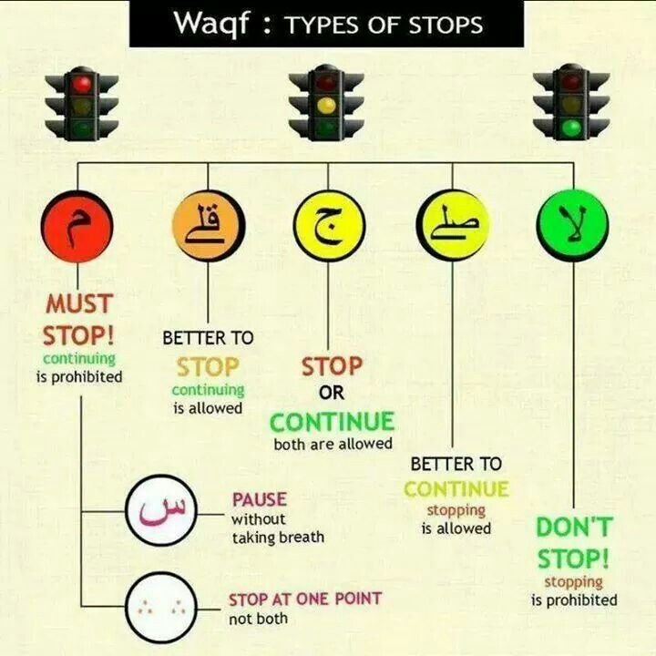 where to stop while reading quran