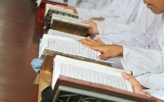 Kids learning Quran in a Halaqa