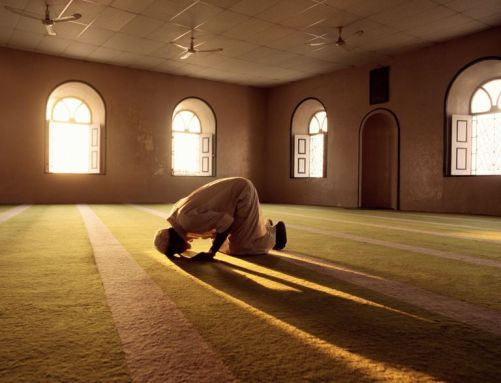 A Muslim performing Sujood in a Masjid