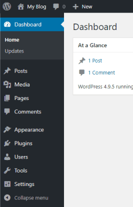 wordpress menu