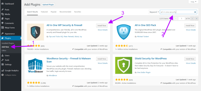 all in one wp security - wordpress security