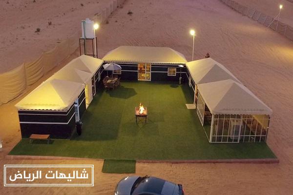 شاليهات الفارس حي الرمال أرقى مخيمات الرياض