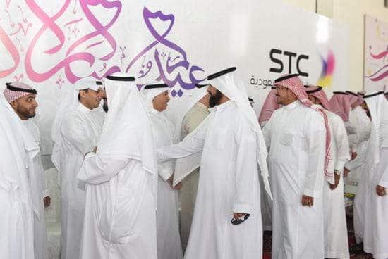 د. البياري يستقبل منسوبي STC في حفل المعايدة بالمركز الرئيسي