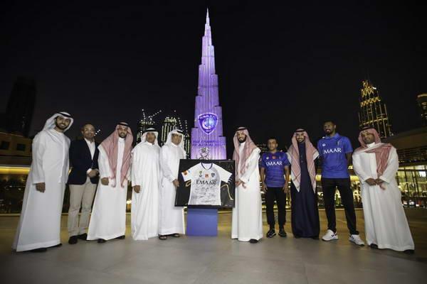 إعمار تكرّم فريق الهلال بطل دوري أبطال آسيا 2019 في فعالية خاصة بجوار برج خليفة في وسط مدينة دبي
