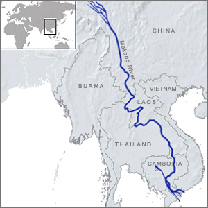 The Mekong River runs more than 4,000 kilometers through six countries, vital to large populations for farming, fishing, drinking water, industry and power generation