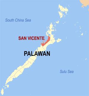 San Vincente map