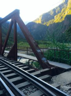 Rails du train, route pour Aguas Calientes